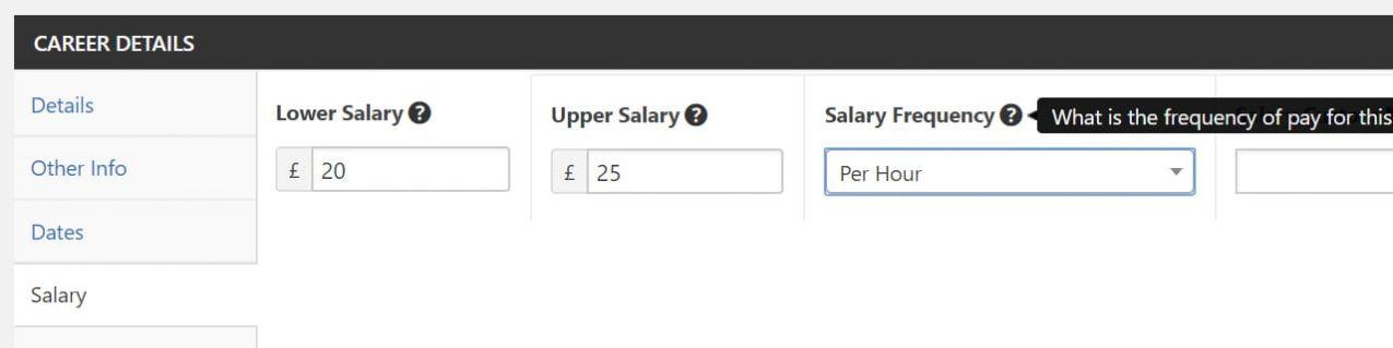 Salary Brackets