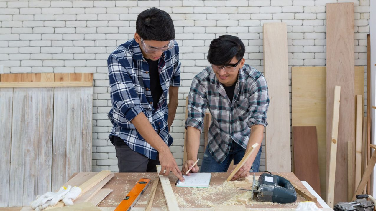 3. Having dependable tradespeople who can get involved with your projects