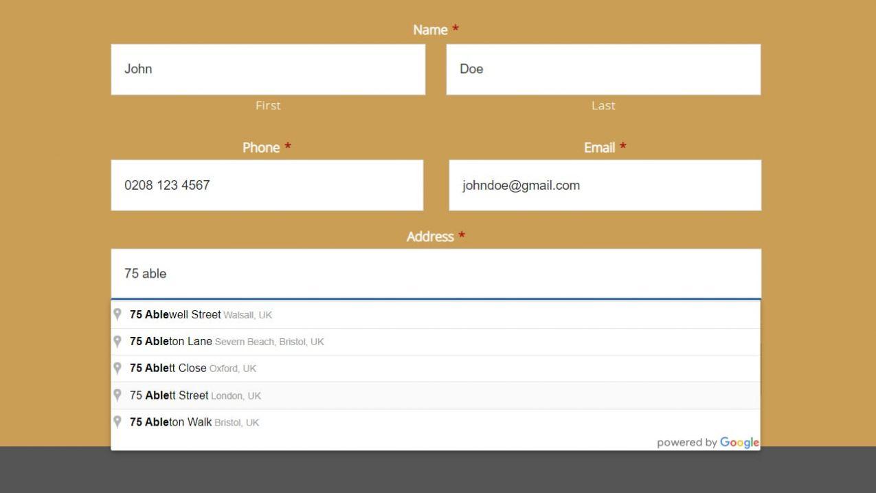 Google Address Integration