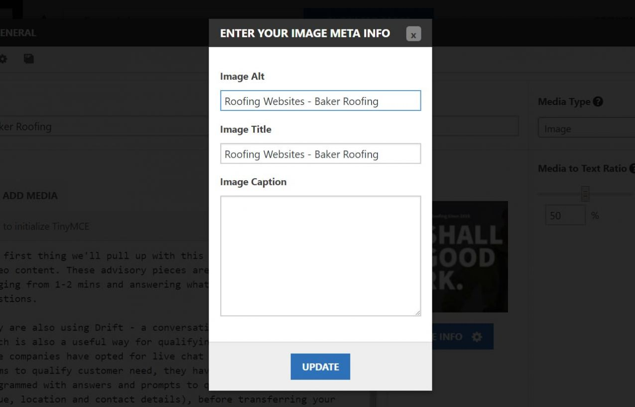 Ensure your Image Description is aligned with what you