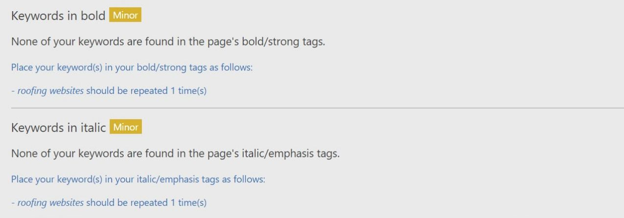 Benefit from placing Keywords in Bold + Italic on your web page