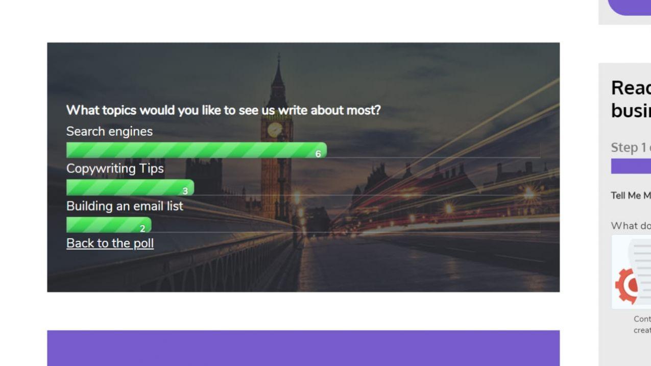 Polls + Surveys