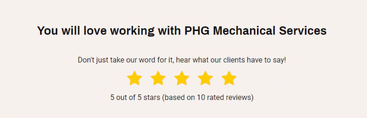 A testimonial rating